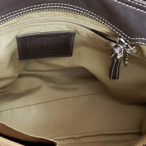 Coach Bags - COACH SOHO BROWN LEATHER BUCKLE TOTE CARRYALL BAG